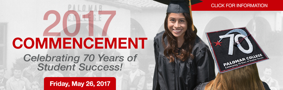 2017 Commencement - Celebrating 70 Years of Student Success! Friday, May 26, 2017