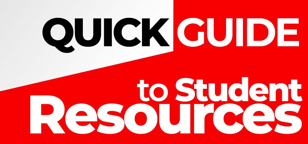 Quick guide to student resources.