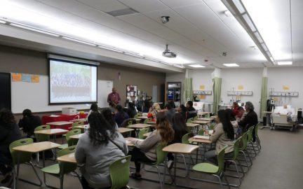 Presentation for the Nursing Program during the campus tours
