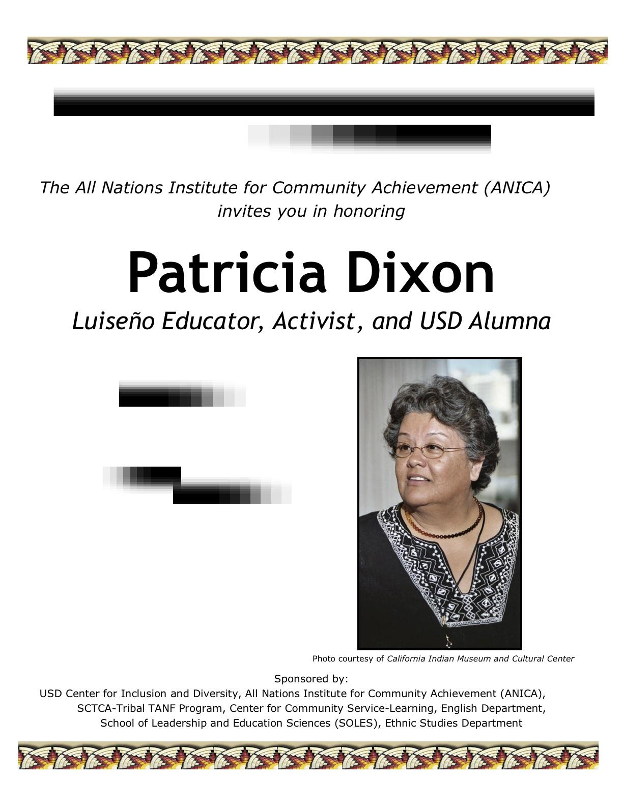 Prof. Patricia Dixon Celebration