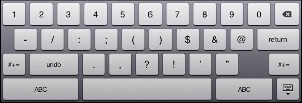 Symbol Keyboard 1