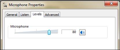 Mic Recording Level