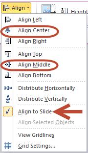 Align To Slide