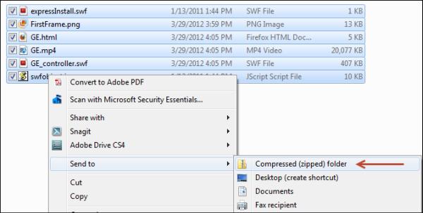 Create Zip Folder