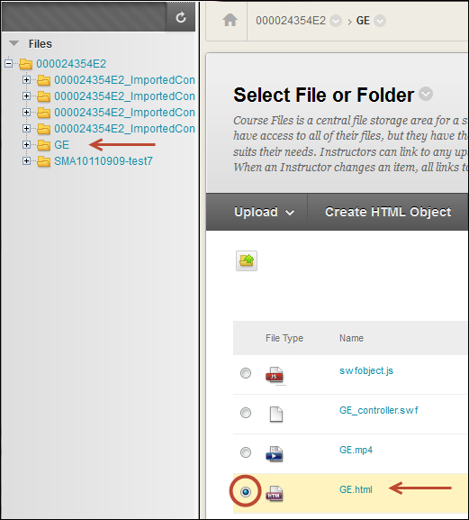 Select File To Link To