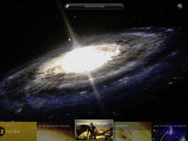 Wonders of the Universe Menu Bar