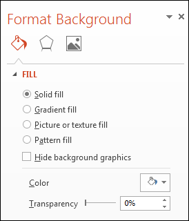 Format Background Panel