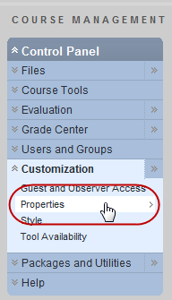 Customizations Properties