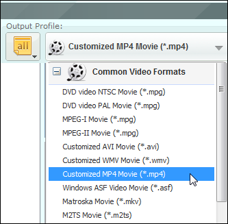 Customized MP4 Movie