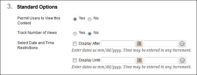 Standard Options
