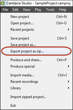 Export As Zip
