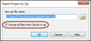 Include Files Dialog