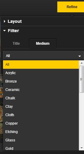 Filter by medium