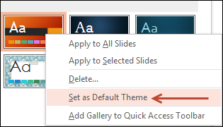 Set Default Theme
