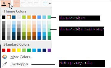 Font Color Selector