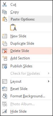 Delete Slide