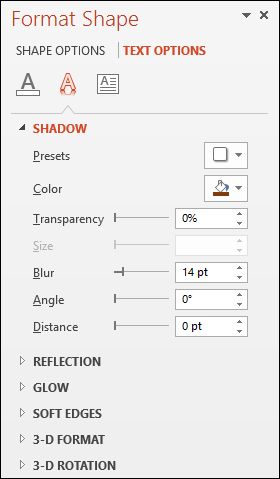 Format Shape Pane