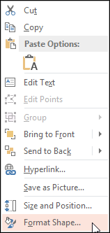 Format Shape Context Menu