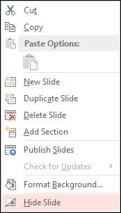 Hide Slide