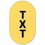 Text Alignment Logo x 200
