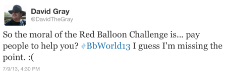 Red Balloon Challenge Tweet