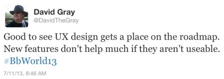 UX Design Tweet