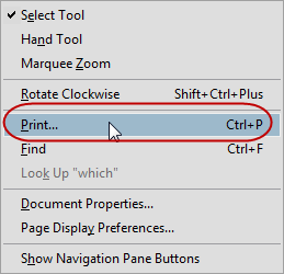 Right-click Print