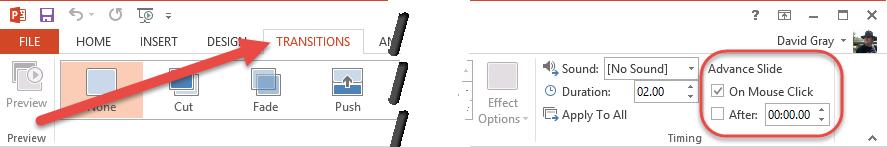 Transitions AdvanceSlide