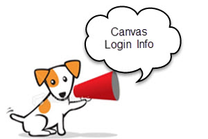 Canvas Login Info
