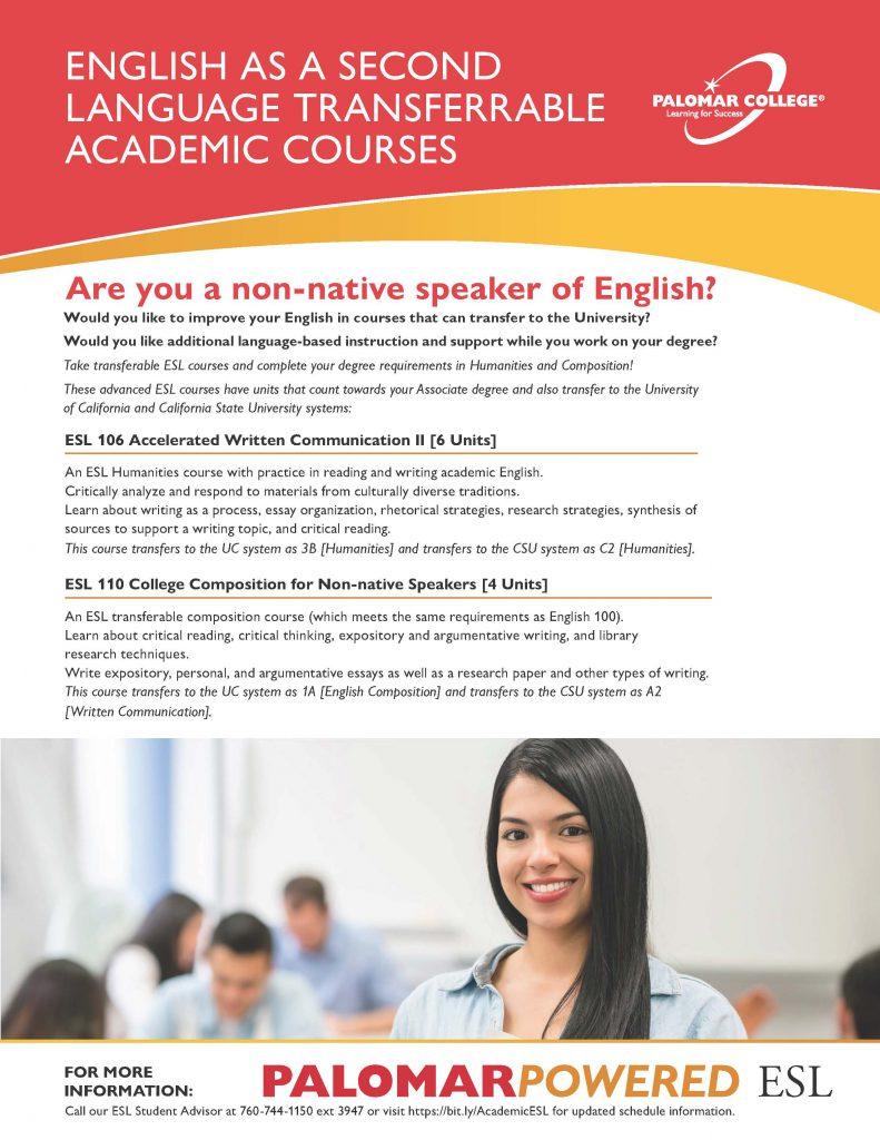 Academic ESL Information