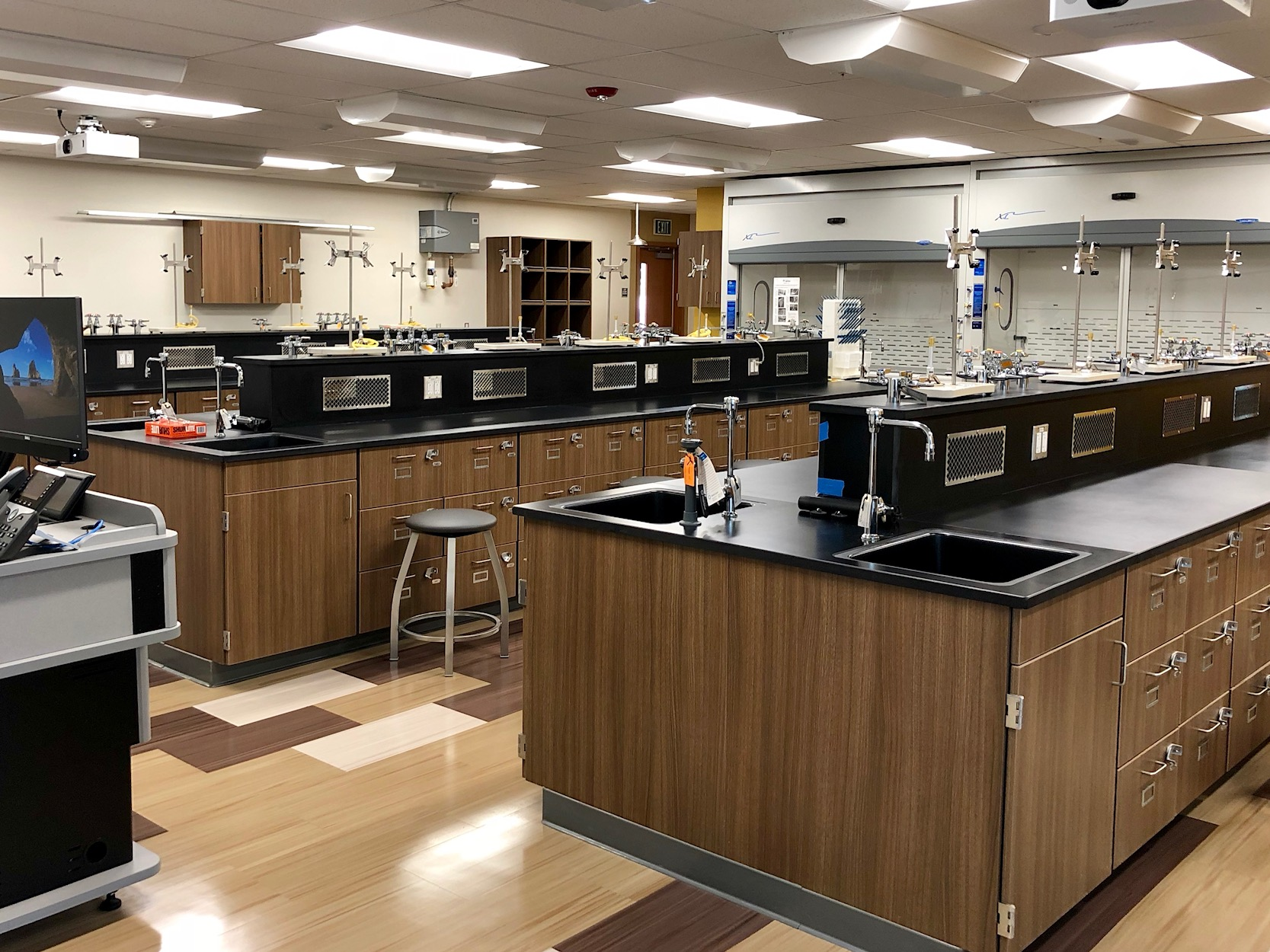 This is the state of the art Chemistry Lab.