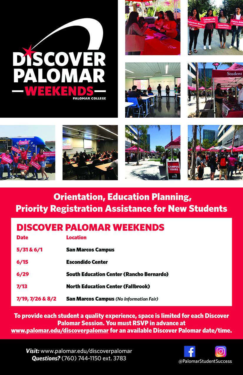 Discover Palomar at the Fallbrook Education Center Saturday, July 13.