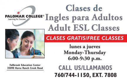 Clases de Ingles para Adultos Adult ESL Classes