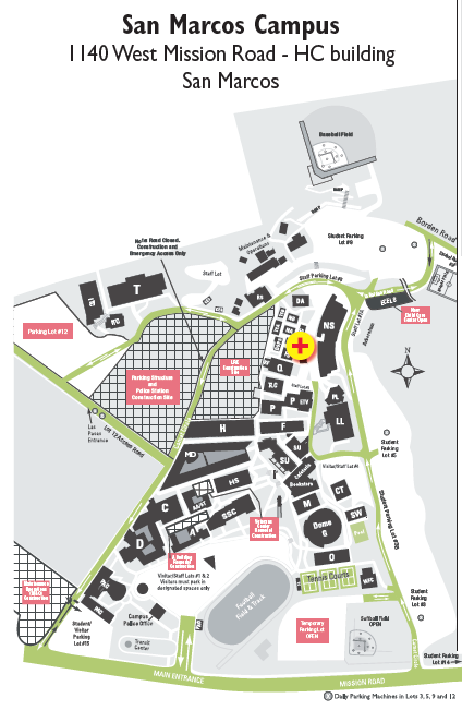 Palomar San Marcos Campus Map.Contact Information Student Health Centers