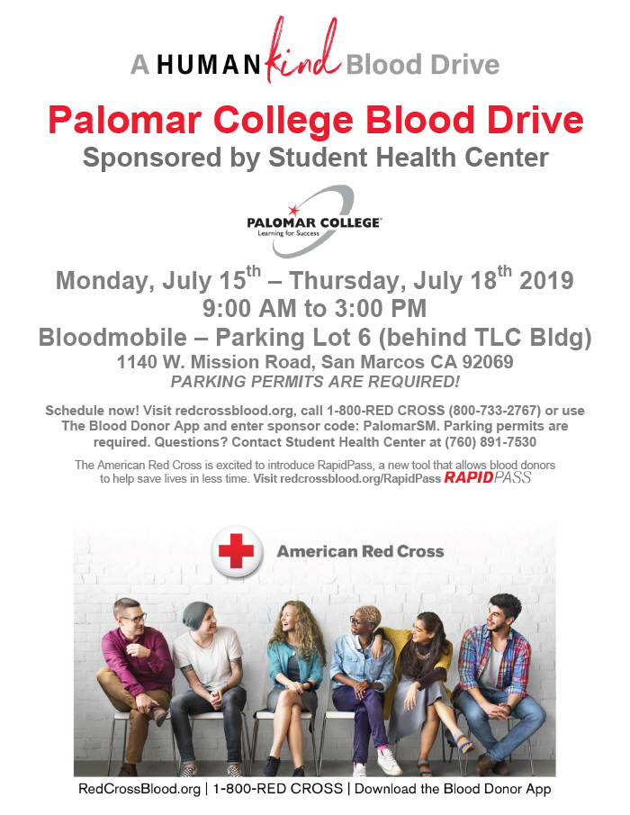 July Blood Drive flyer