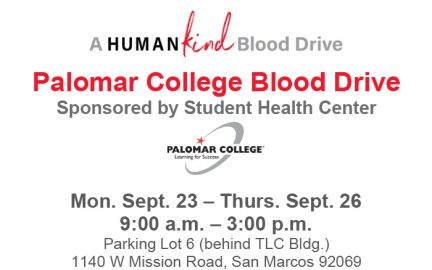 September Blood Drive flyer