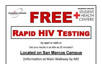 HIV Testing flyer San Marcos
