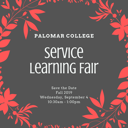 Service Learning Fair - Sept. 4