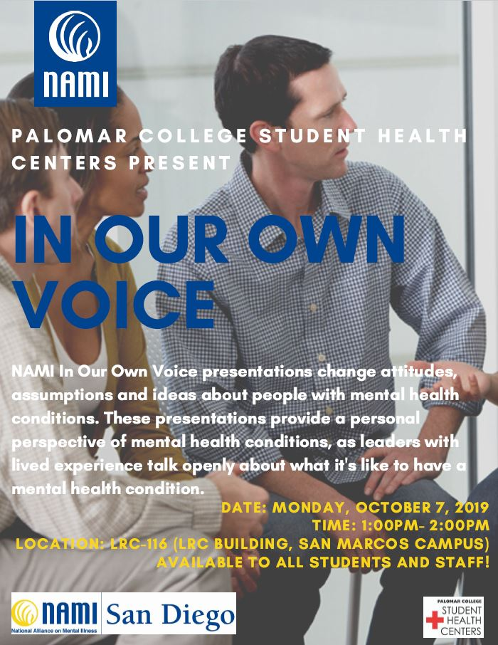 In Our Own Voice flyer