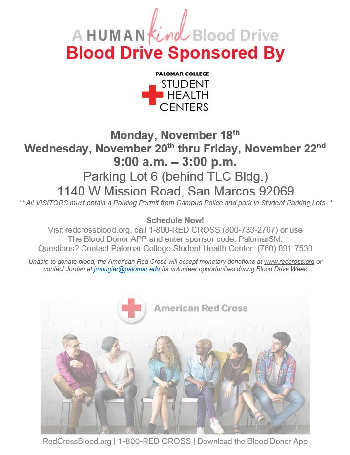 November blood drive flyer