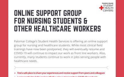 Online Support Group flyer