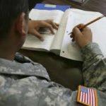 veteran in school clip image