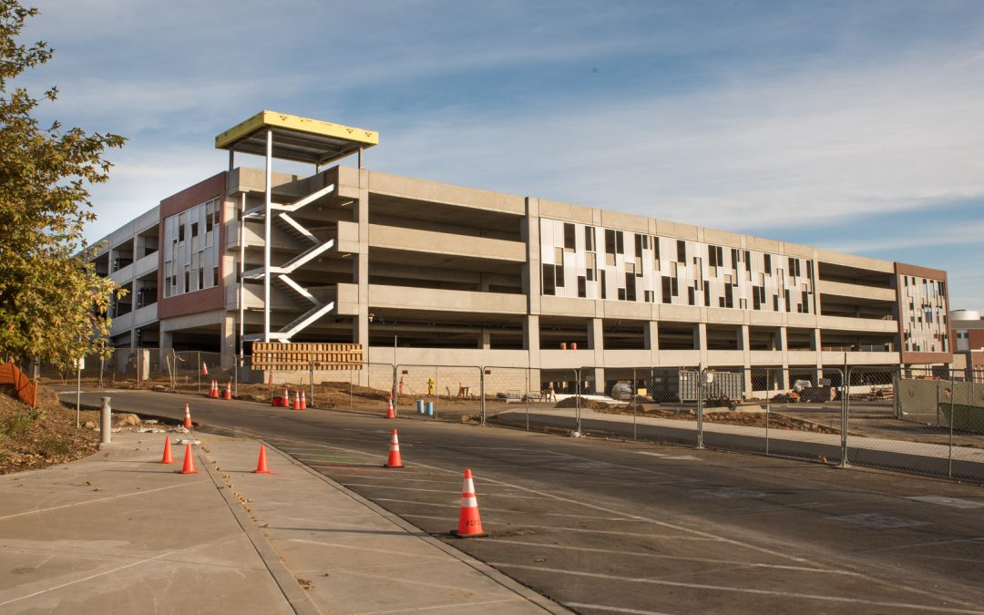 As Palomar College Parking Structure Nears Completion Campus Roadways Are Affected