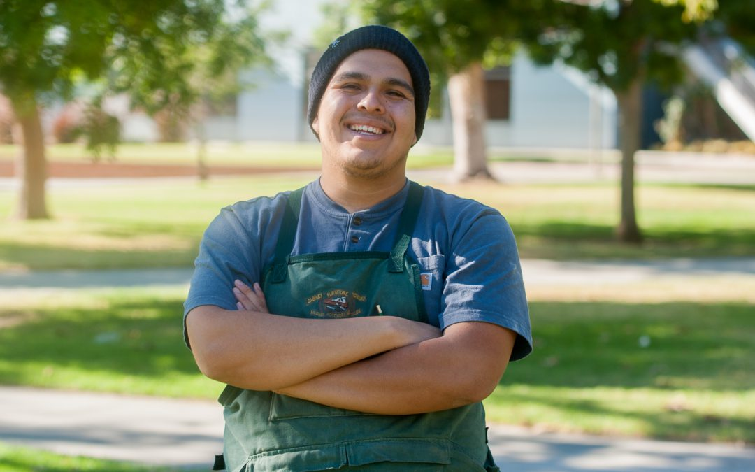 Woodworking student hand-crafting a career in North County