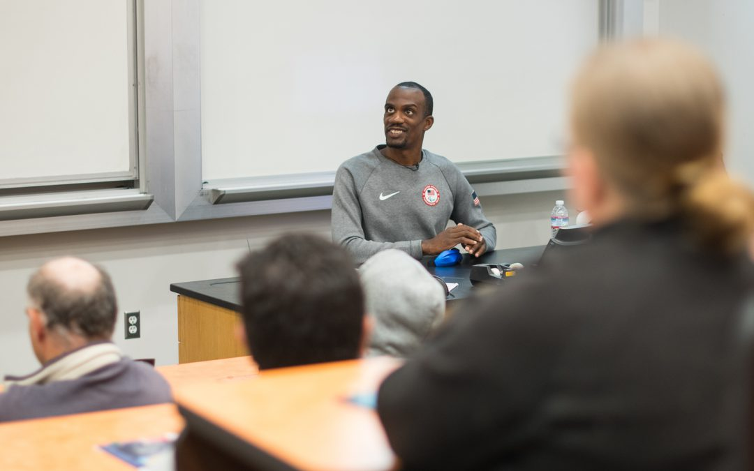 Paralympic champion inspires students with his story