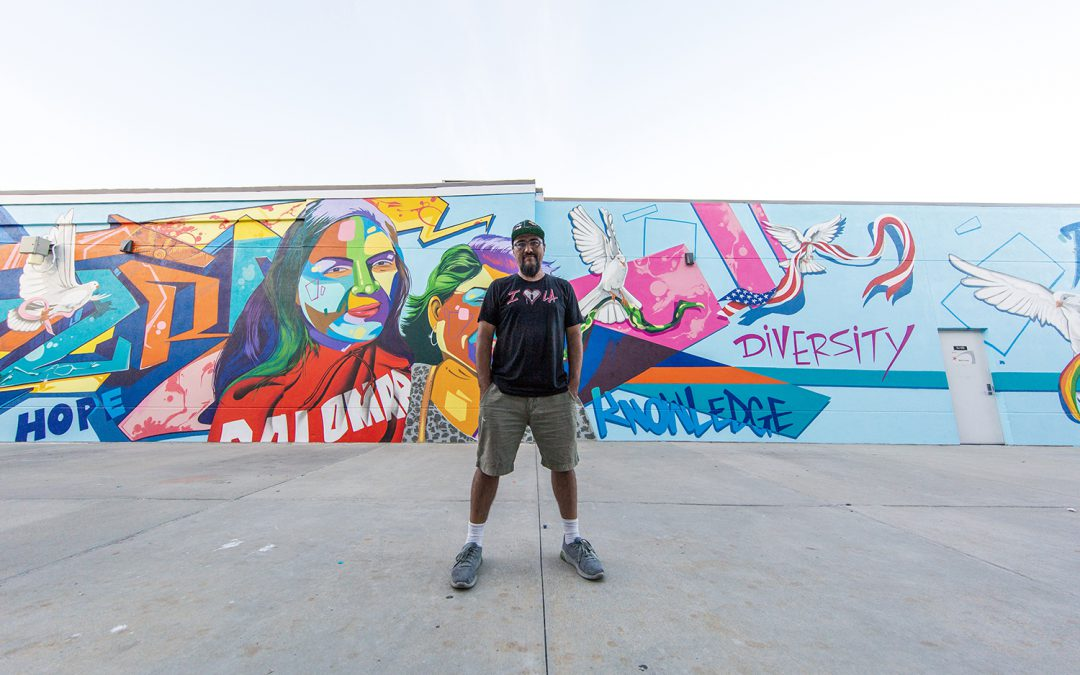 Palomar Dedicates New Campus Mural by Renowned L.A. Artist Man One