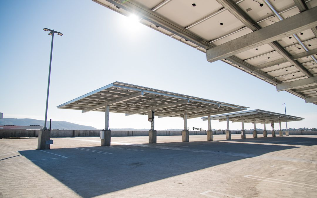 Solar Array Activated Atop Palomar's Parking Garage