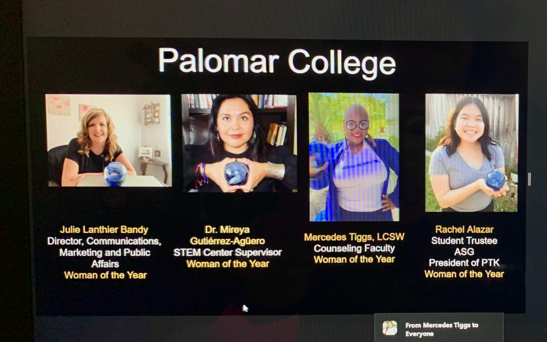 """Four """"Women of the Year"""" Named at Palomar College"""