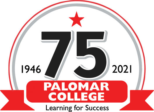 1946-2021, 75 years. Palomar College. Learning for Success