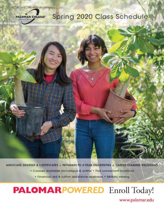 Palomar College Spring 2020 Class Schedule
